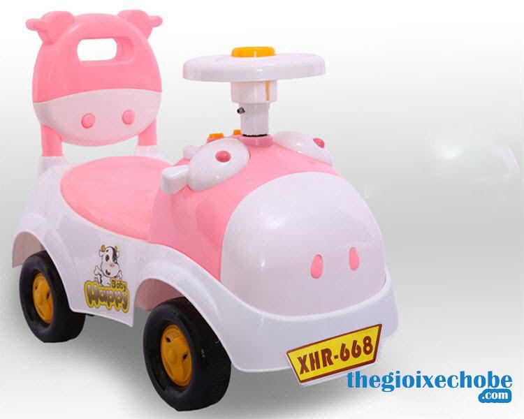 Xe chòi chân trẻ em HT-5517 màu trắng-hồng