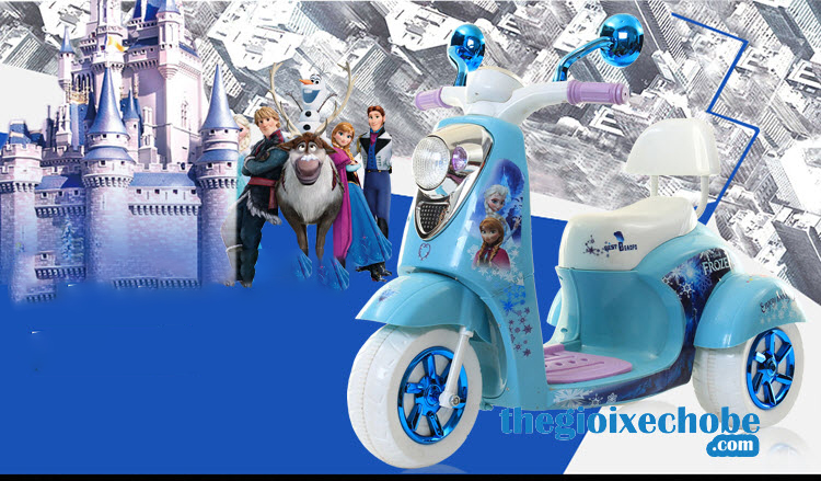 Xe máy điện trẻ em QM-168 màu xanh