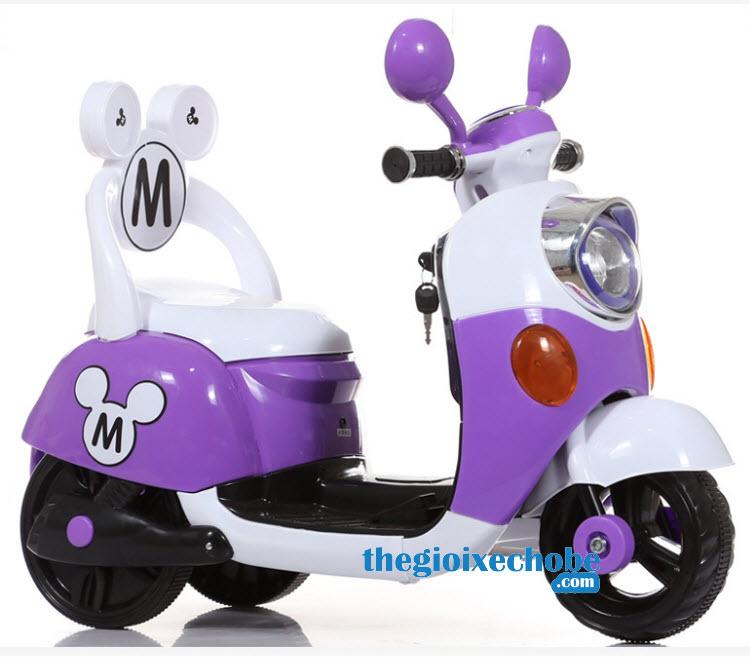 Xe máy điện trẻ em 6688M màu tím