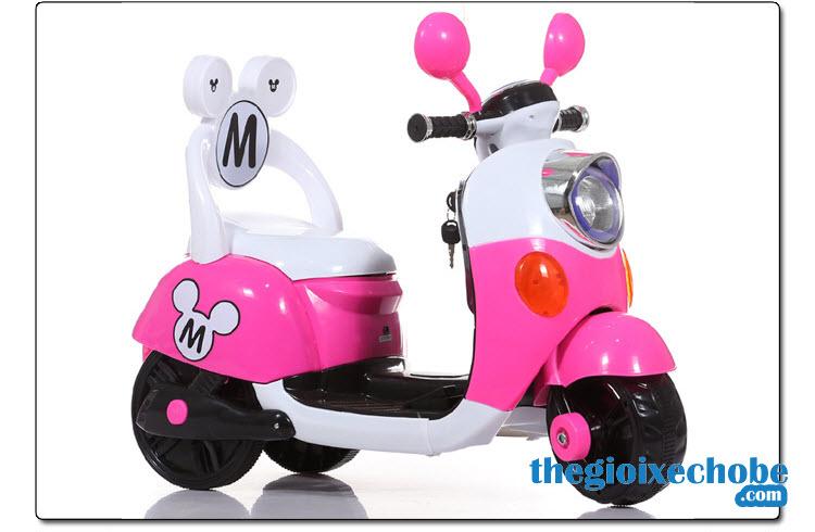 Xe máy điện trẻ em 6688M màu hồng