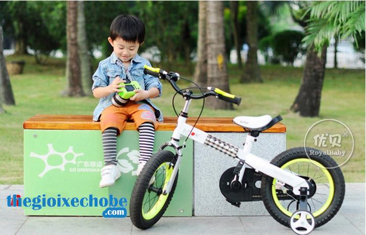 Xe đạp trẻ em RoyalBaby Buttons RB-15 vành màu vàng