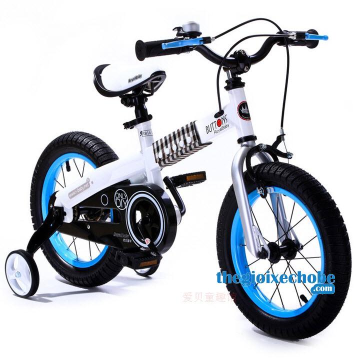 Xe đạp trẻ em RoyalBaby Buttons vành màu xanh nước biển