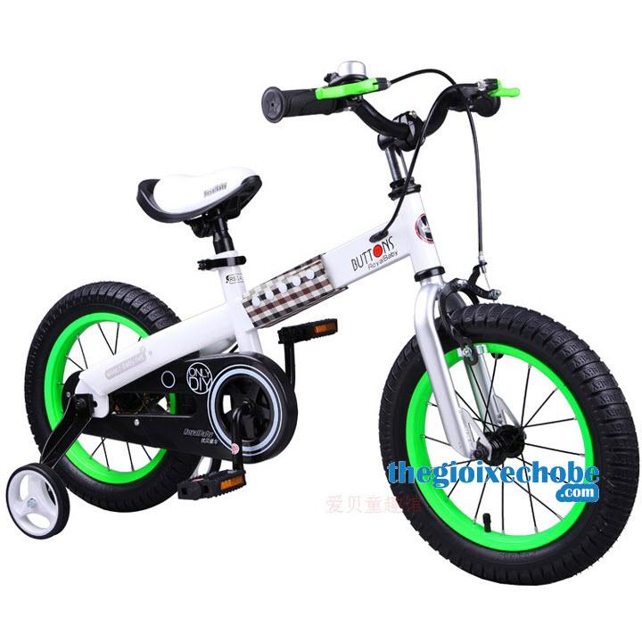 Xe đạp trẻ em RoyalBaby Buttons vành màu xanh lá cây