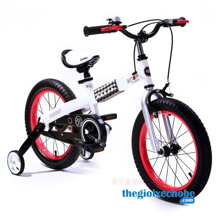 Xe đạp trẻ em RoyalBaby Buttons RB-15 vành màu đỏ