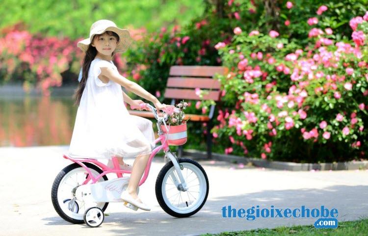 Xe đạp trẻ em RoyalBaby Littel Swan RB-18 màu hồng