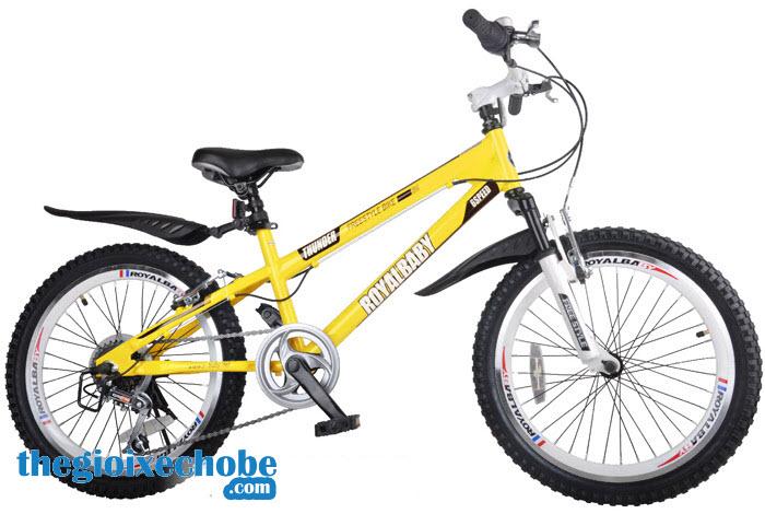 Xe đạp trẻ em RoyalBaby FreeStyle 20B-6S màu vàng