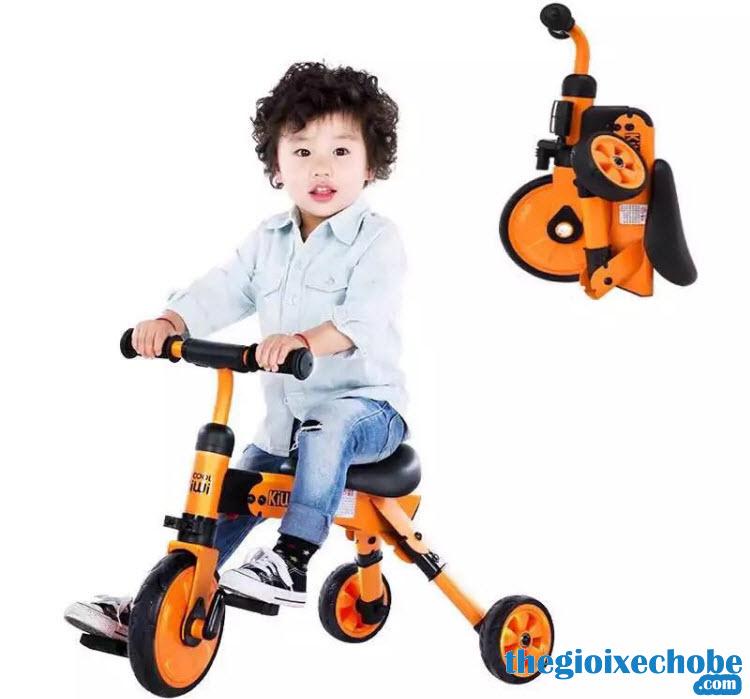 Xe đạp 3 bánh trẻ em AH-003 màu cam