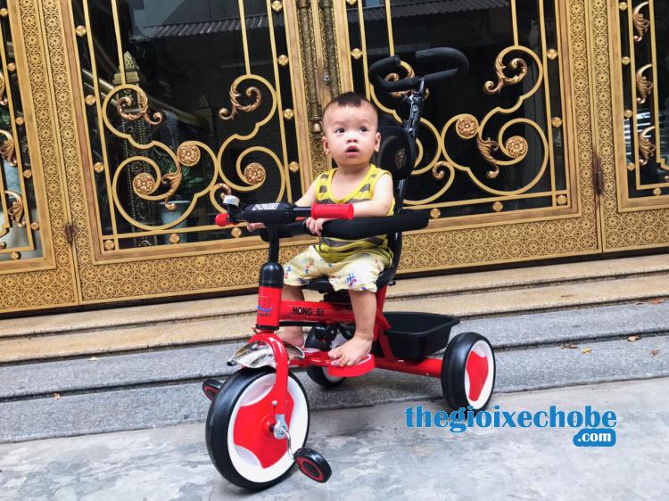 Xe đạp 3 bánh trẻ em 819 màu đỏ