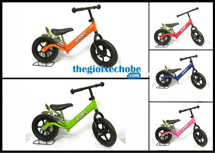 Xe thăng bằng cho bé Ander Basic có 4 màu:xanh ,cam,hồng,đỏ