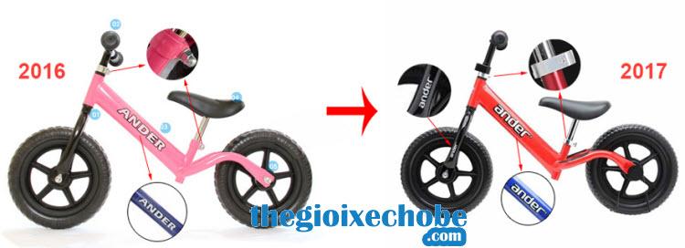 Xe thăng bằng cho bé Ander Basic có nhiều cải tiến mới