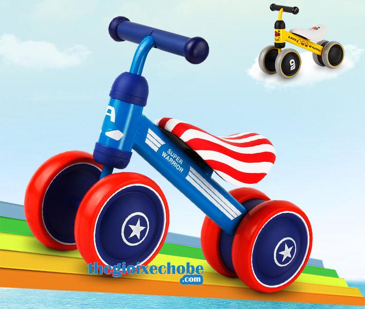 Xe thăng bằng cho bé YBE-9988 màu xanh
