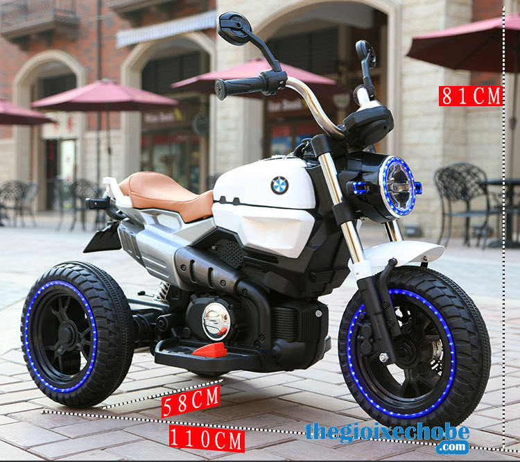 Kích thước xe máy điện trẻ em KKL-118