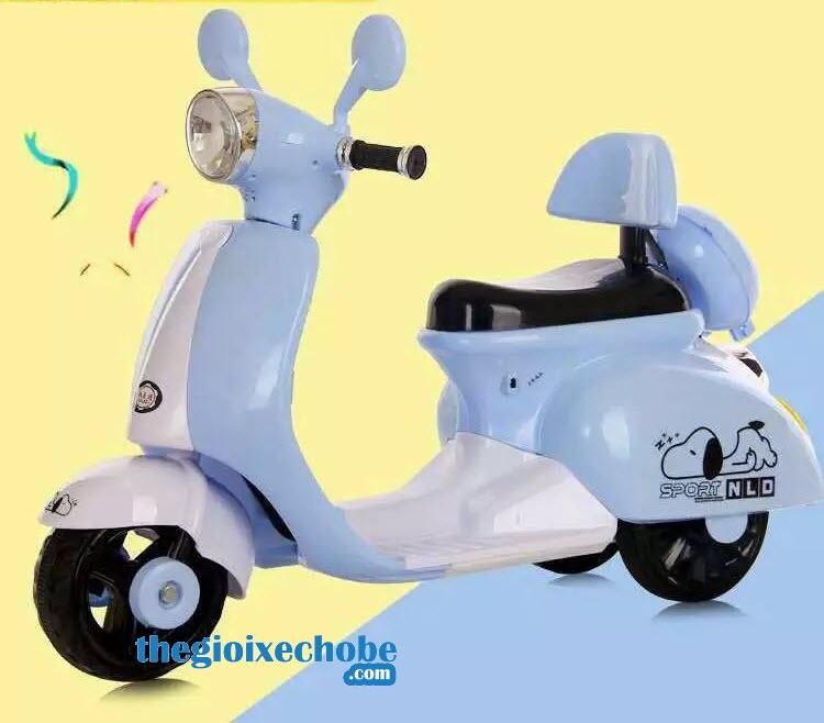 Xe máy điện trẻ em Vespa NLD-3279 màu xanh
