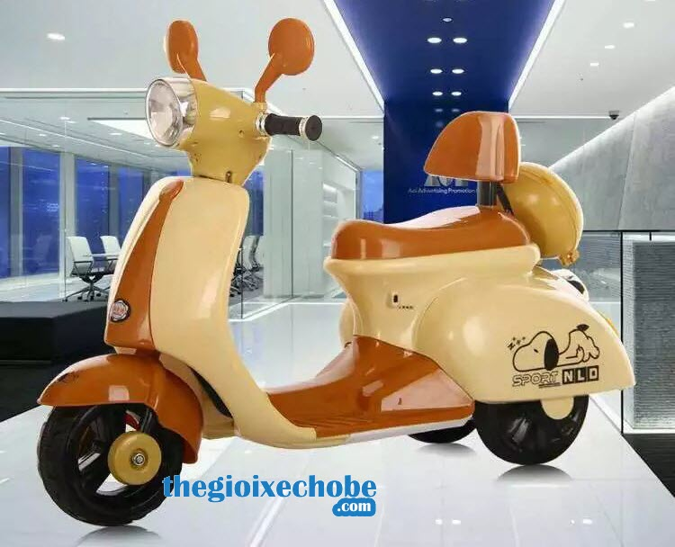 Xe máy điện trẻ em Vespa NLD-3279 màu cafe