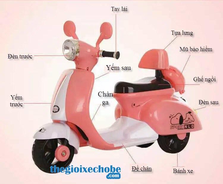 Thông số kỹ thuật của xe máy điện trẻ em Vespa NLD-3279