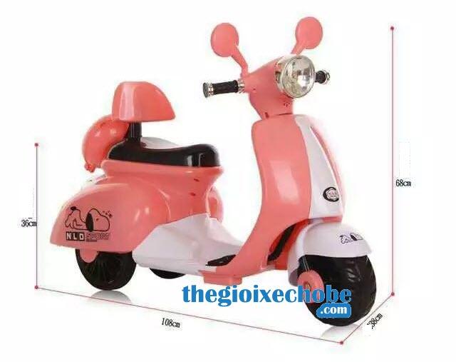 Kích thước của xe máy điện trẻ em Vespa NLD-3279