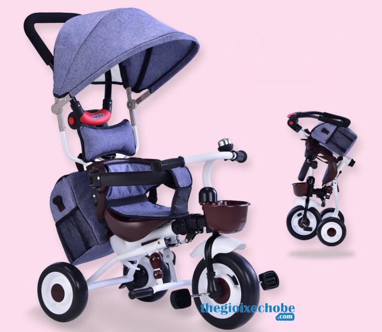 Xe đạp 3 bánh trẻ em Eva 007 - Hàng xuất Châu Âu, gập gọn