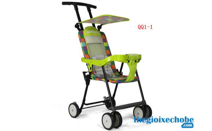 Xe đẩy cho bé Seebaby QQ1-2 màu xanh lá cây
