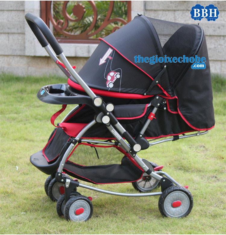 Xe đẩy cho bé Baobaohao 720A có mái che rộng