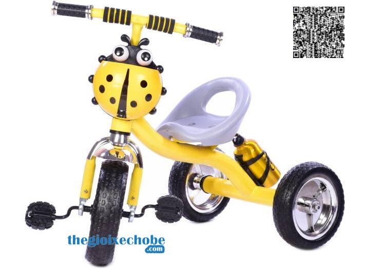 Xe đạp ba bánh trẻ em 158 màu vàng