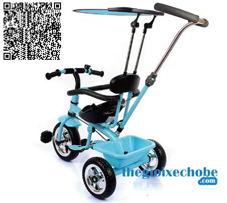 Xe đạp 3 bánh trẻ em T301 màu xanh dương