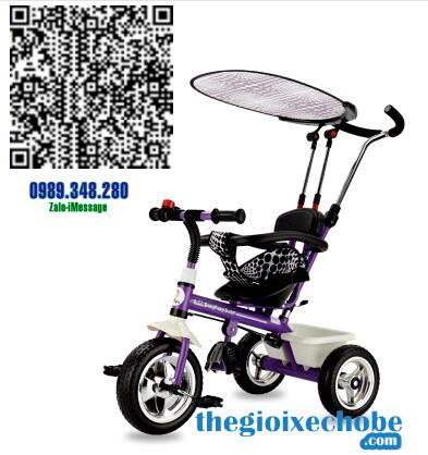 Xe đạp 3 bánh trẻ em T301 màu tím