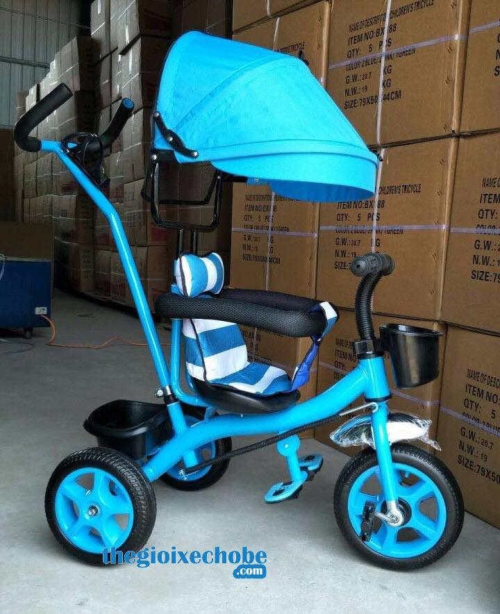 Xe 3 bánh trẻ em 6666 màu xanh