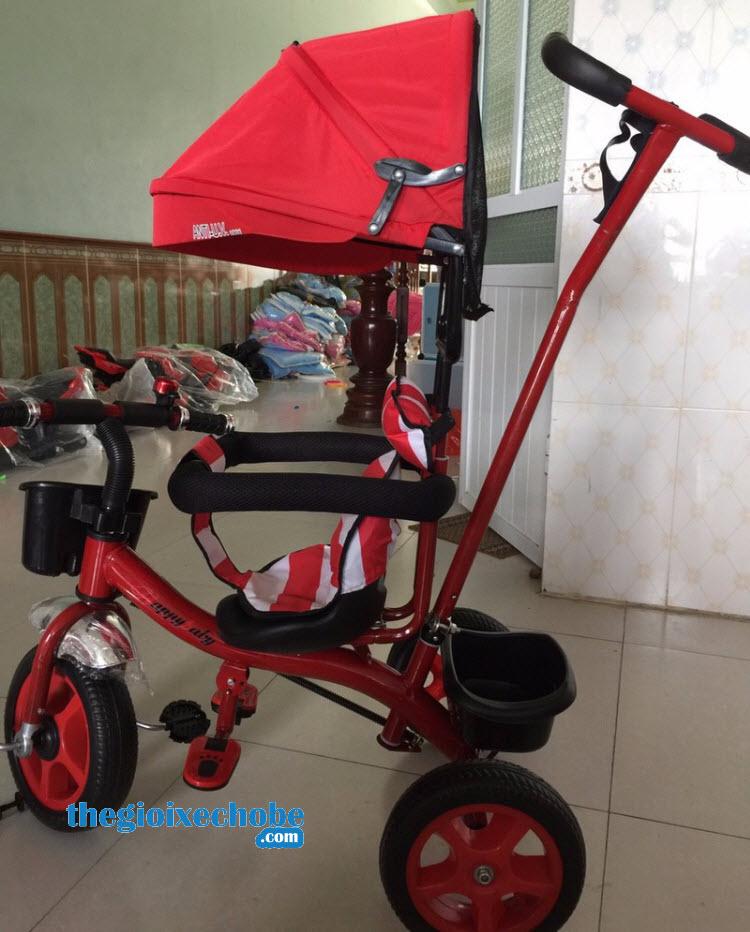 Xe 3 bánh trẻ em 6666 màu xanh đỏ