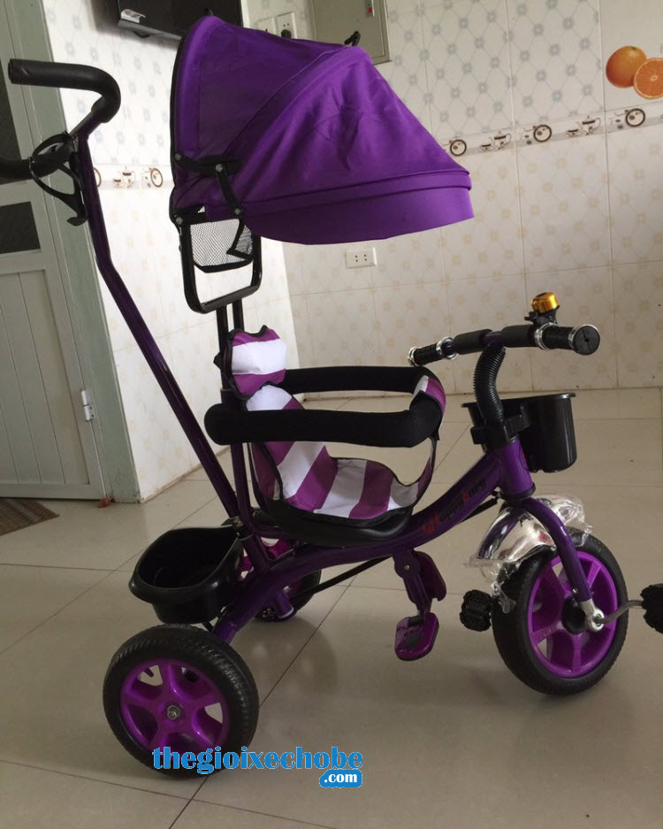 Xe 3 bánh trẻ em 6666 màu tím