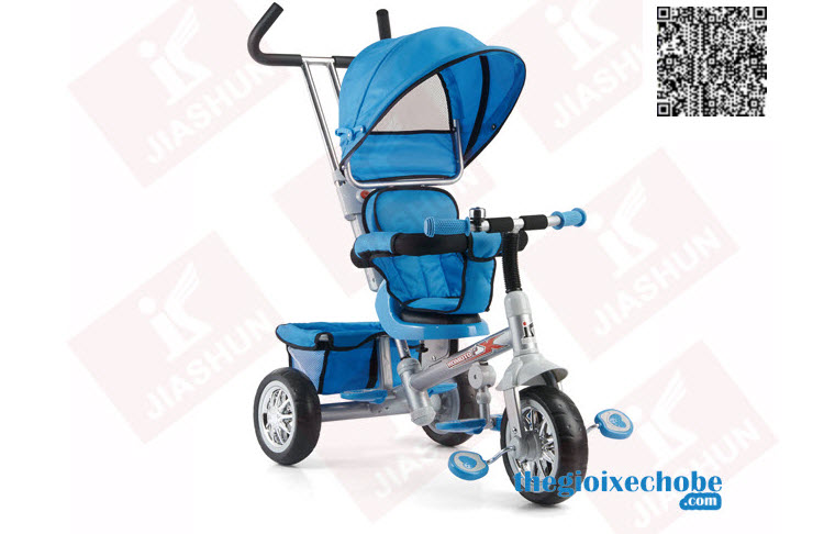 Xe ba bánh trẻ em B32-2 màu xanh