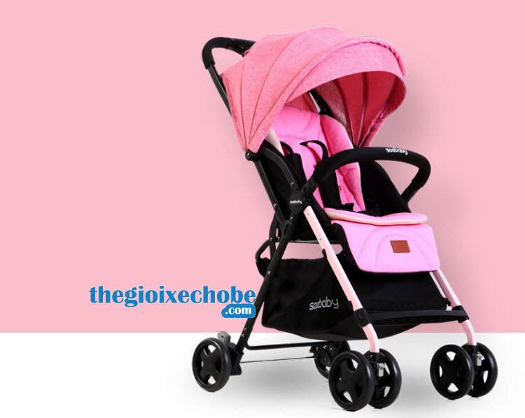 Xe đẩy cho bé Seebaby T04 màu hồng
