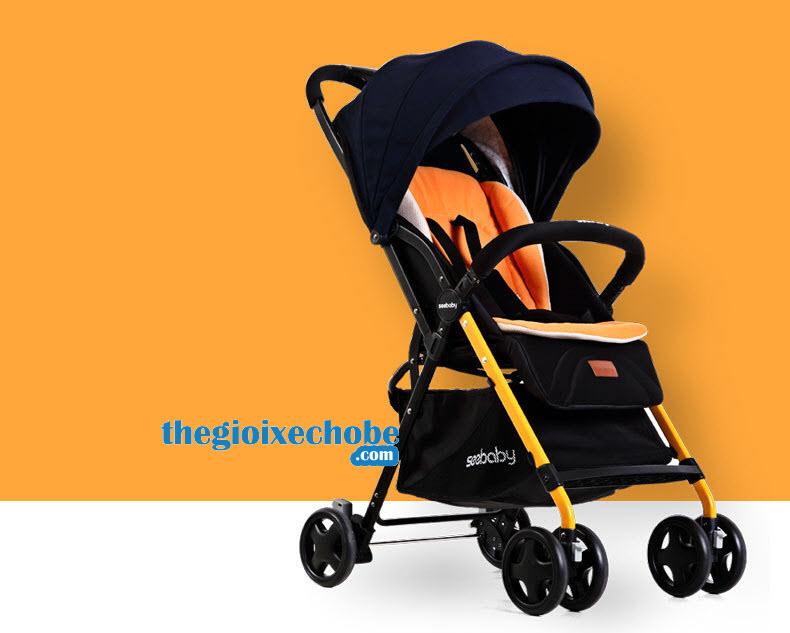 Xe đẩy cho bé Seebaby T04 màu cam
