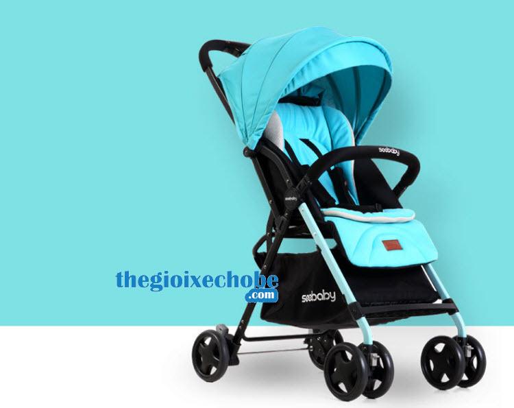 Xe đẩy cho bé Seebaby T04 màu xanh