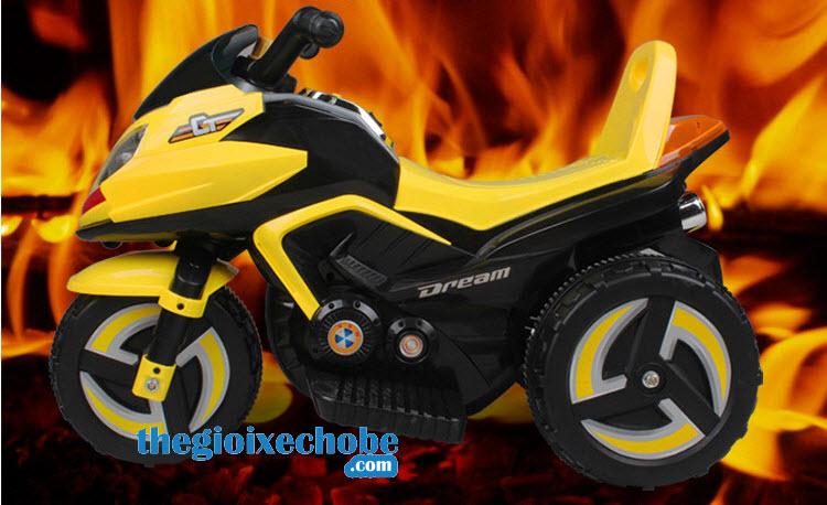 Xe máy điện trẻ em 9801 màu vàng