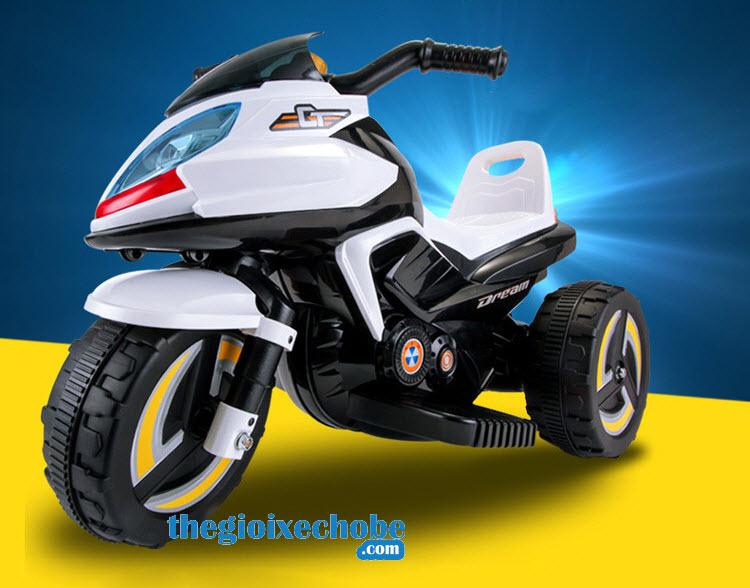 Xe máy điện trẻ em 9801 màu trắng