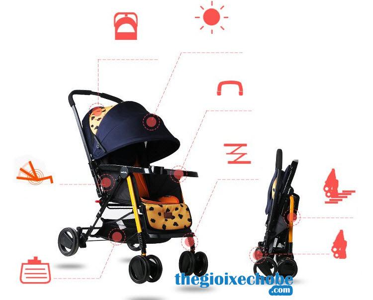 Xe đẩy cho bé Seebaby T11 có thể thích ứng mọi thời tiết