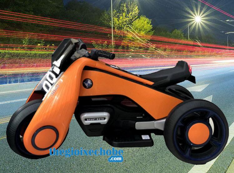 Xe máy điện trẻ em BDQ-6188 màu cam