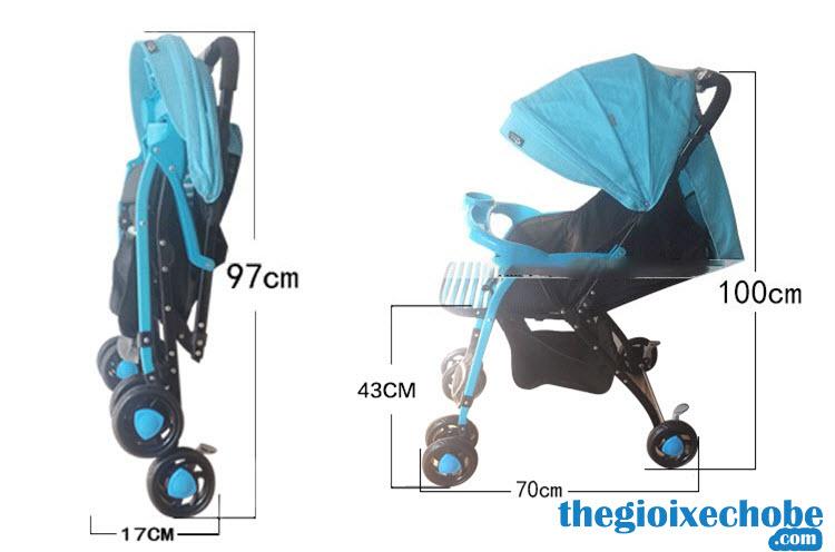 Kích thước xe đẩy trẻ em BLB-769