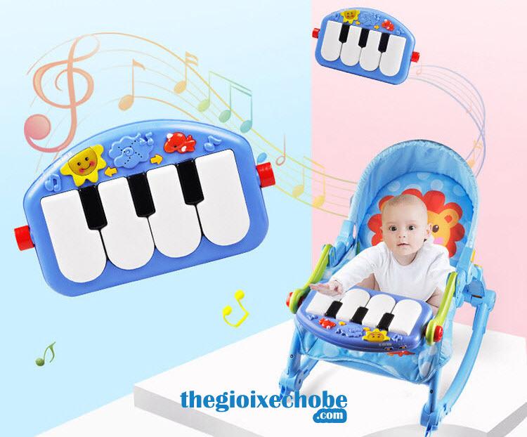 Nôi em bé 3689-EF có bàn nhạc cho bé