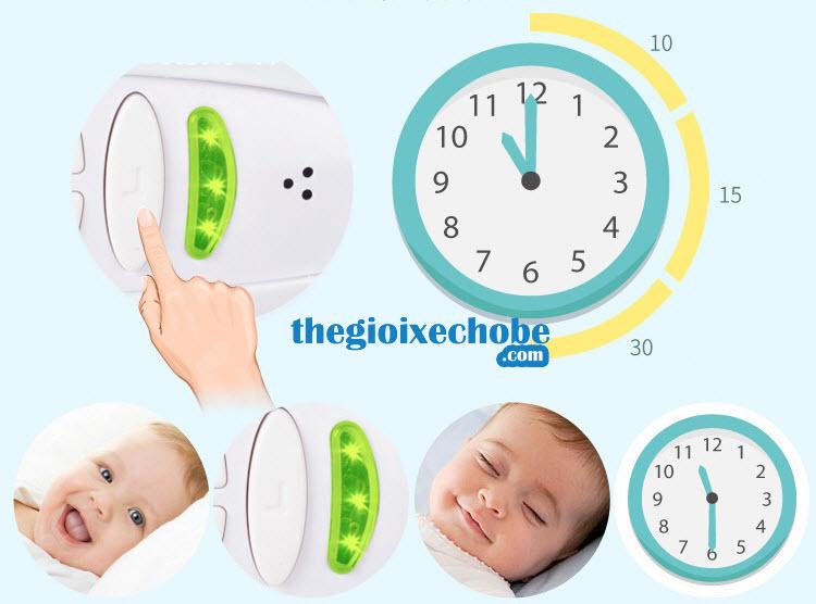 Nôi em bé 3689 LP có chế độ hẹn giờ ru bé ngủ