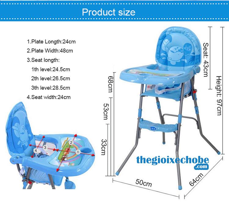 Kích thước ghế tập ăn bột cho bé 217
