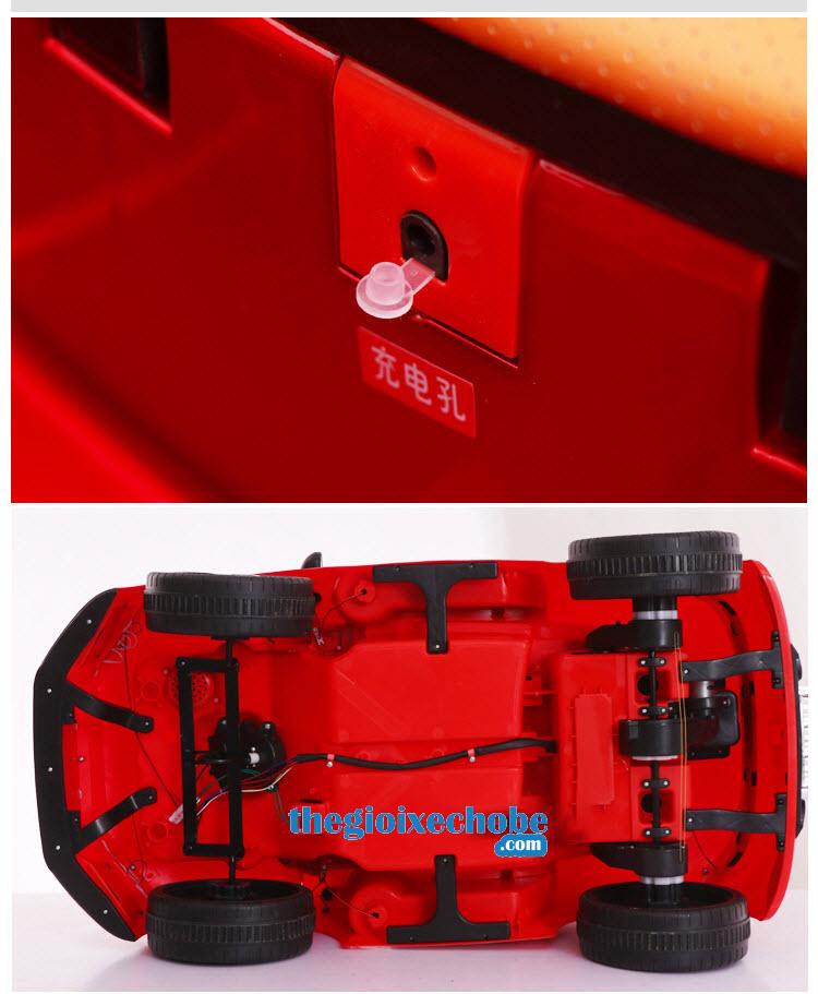 Các chi tiết xe ô tô điện trẻ em Audi AT-7568