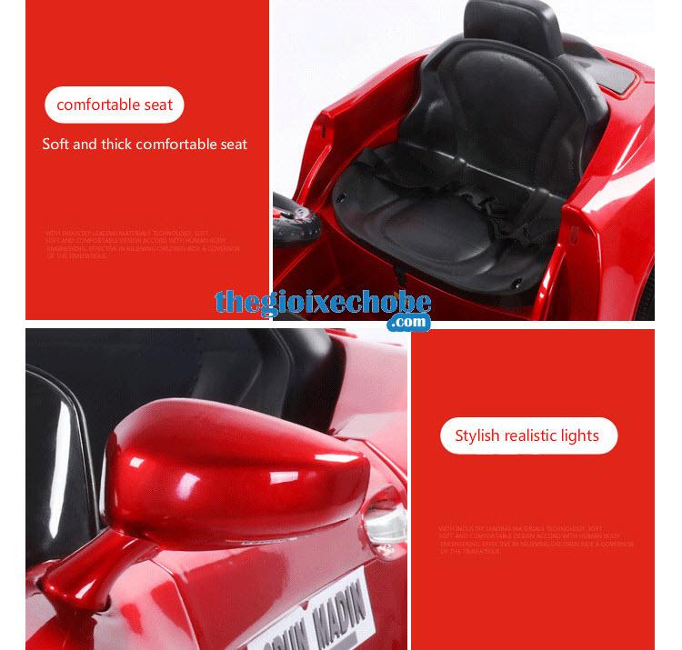 Ghế và gương chiếu hậu xe ô tô điện trẻ em XL-5200