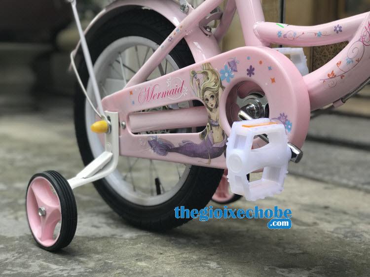 Hộp xích xe đạp nàng tiên cá cho bé gái-158 thiết kế có gắn hình nàng tiên cá dịu dàng