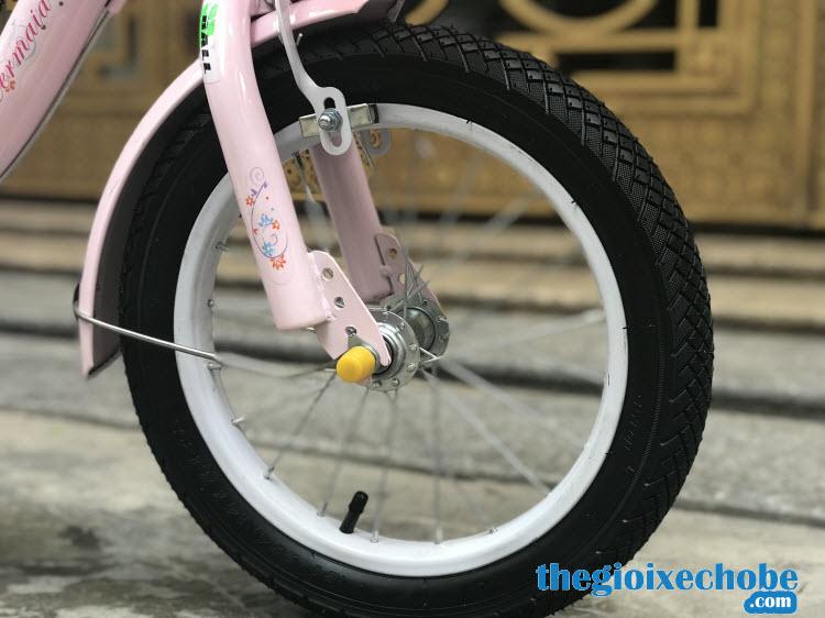 Xe đạp nàng tiên cá cho bé gái-158 bánh xe to chắc chắn
