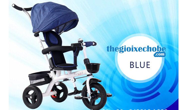 Xe đạp 3 bánh trẻ em 313 màu xanh