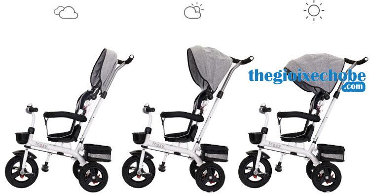 Xe đạp ba bánh trẻ em 313 có mái che phù hợp với mọi thời tiết