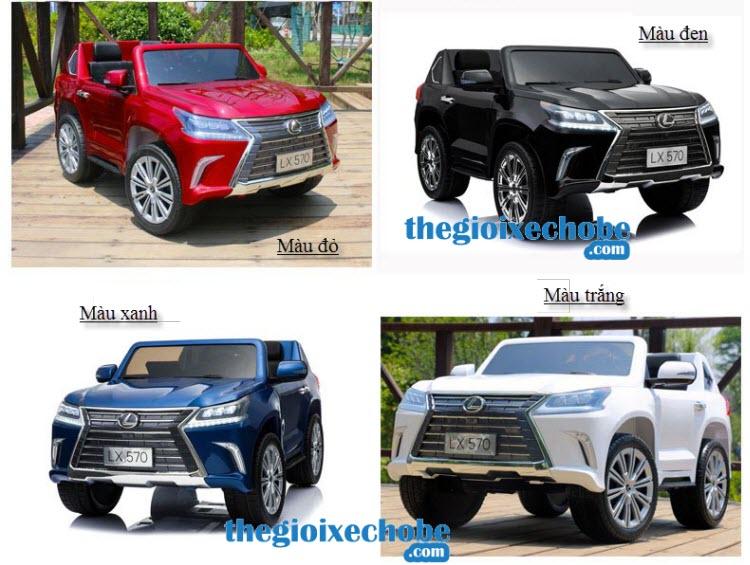 Xe ô tô điện trẻ em LX-570 - Bánh cao su + 4 động cơ có màu sắc phong phú, đa dạng cho bé lựa chọn