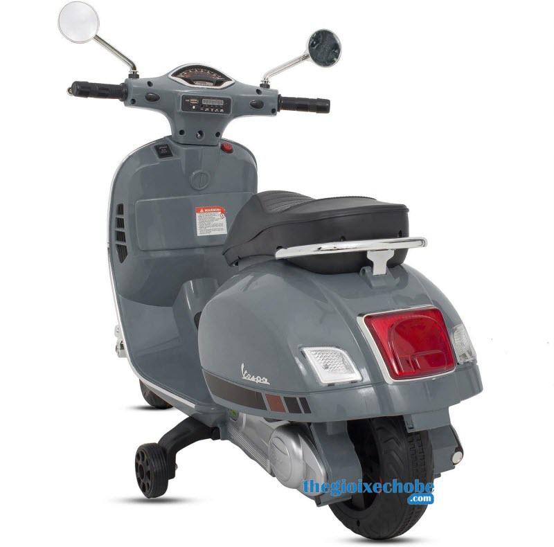 Xe mô tô điện trẻ em Vespa Q168 màu xám