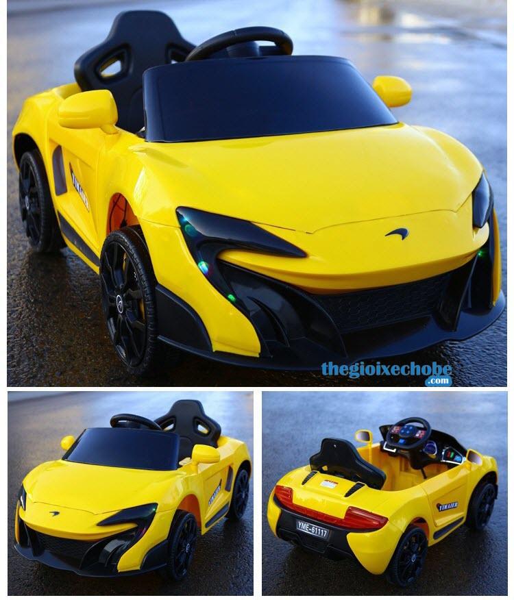Xe ô tô điện trẻ em 6117 màu vàng